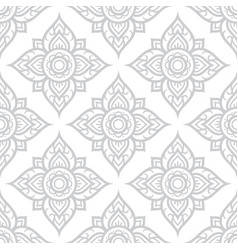 thai flowers seamless pattern asian floral design vector image