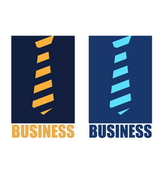 abstract logo tie and business vector image vector image