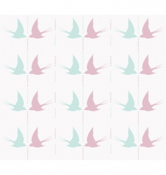 cute swallow pattern vector image vector image