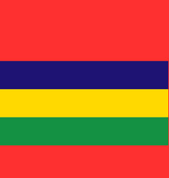 national flag of mauritius vector image vector image