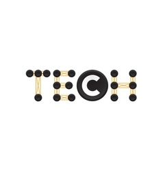 Tech logotype technology logo template electronic vector image