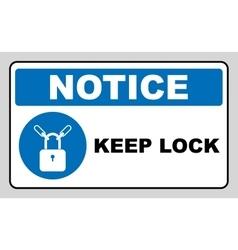 Keep locked sign vector image