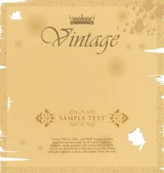old paper vintage background vector image vector image