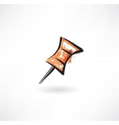 pin grunge icon vector image