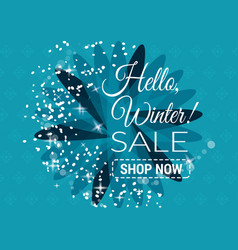 winter sale text in winter vector image