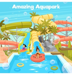1609i029014Sm005c15aquapark illlustration vector
