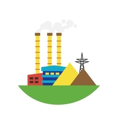Alternative energy factory vector
