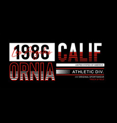 athletic california typography design vector image