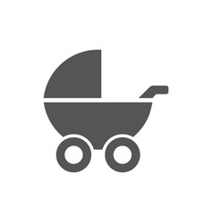 baby buggy simple icon grey color on white vector image