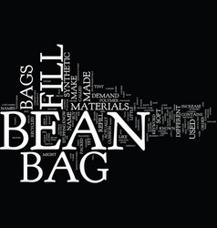 Bean bag furniture text background word cloud vector