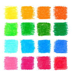 beautiful oil pastel square design elements for vector image
