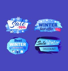 Best winter big sale 2017 special offer discounts vector