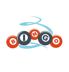 Bingo letters on colorful balls hand drawn pattern vector