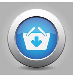 Blue button - shopping basket add vector
