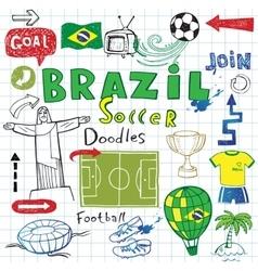 Brazilian soccer vector