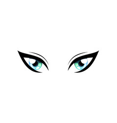 Bright beautiful cat eyes with light reflections vector