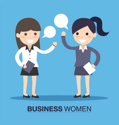 Business women speaking vector