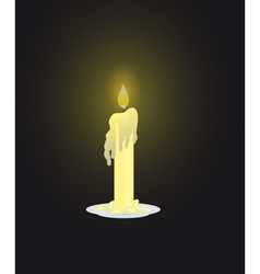 Candle on dark background vector