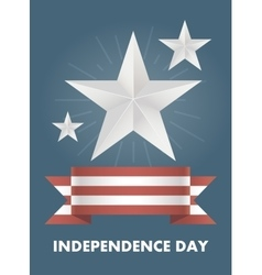 card with Independence Day of America vector image
