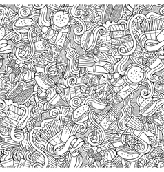 Cartoon hand-drawn doodles on subject fast vector