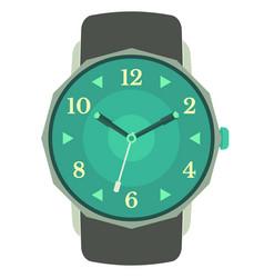 classic design mechanical wristwatch vector image