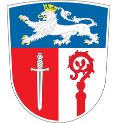 Coat of arms of ostallgau in swabia bavaria vector