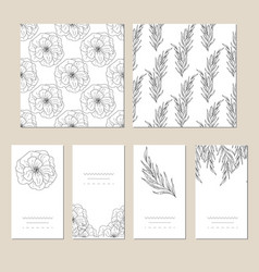 decorative greeting card or invitation vector image