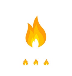 Design of colorful flame icon vector