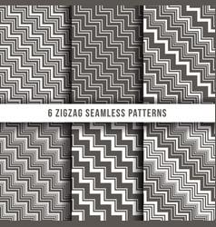 diagonal zigzag line seamless pinstripe vector image