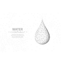 drop abstract 3d wireframe water isolated vector image