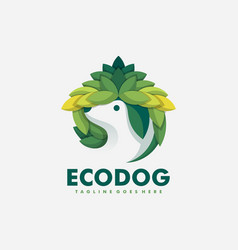 eco dog concept design template vector image