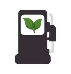 Ecology fuel isolated icon vector