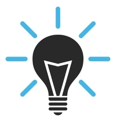 Electric Light Flat Pictogram vector image
