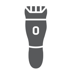 Electric shaver glyph icon barber and hairstyle vector