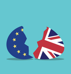 eu and uk egg vector image