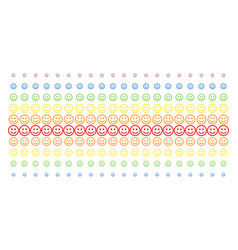 Glad smiley shape halftone spectral grid vector
