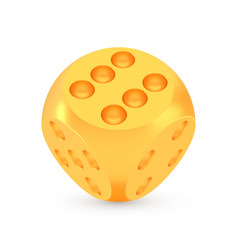 golden luck dice award concept shiny realistic vector image