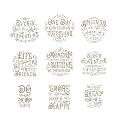 Good quote motivation hand drawn vintage drawing vector