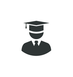 graduate icon simple student element master vector image