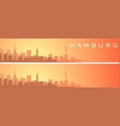 hamburg beautiful skyline scenery banner vector image