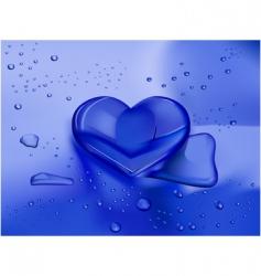 heart droplet vector image
