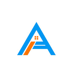 House letter a business logo vector