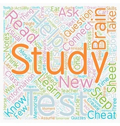 How To Study For A Test text background wordcloud vector image