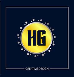 initial letter hg logo template design vector image