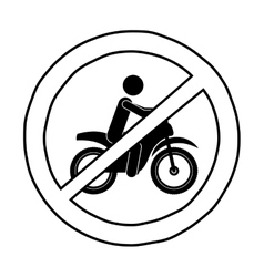 Isolated motorcycle road sign design vector