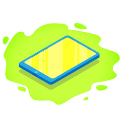 isometric modern touch tablet vector image
