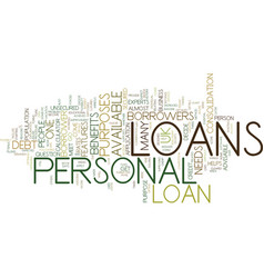 let the borrower decide with personal loans uk vector image