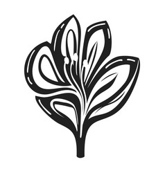 Lily icon simple style vector