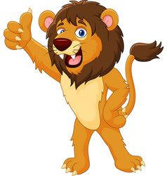 Lion gives thumb up vector