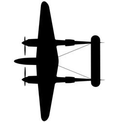 Lockheed p-38f lightning top vector